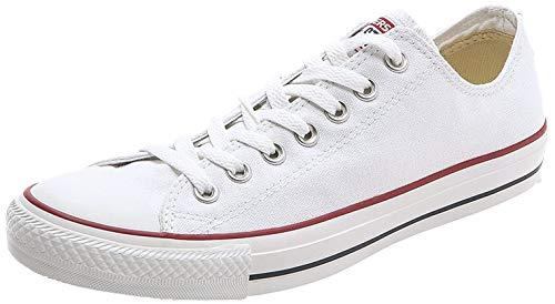 Converse Chuck Taylor All Star Canvas Low Top Sneaker, Optical White,9.5 Men/11.5 Women
