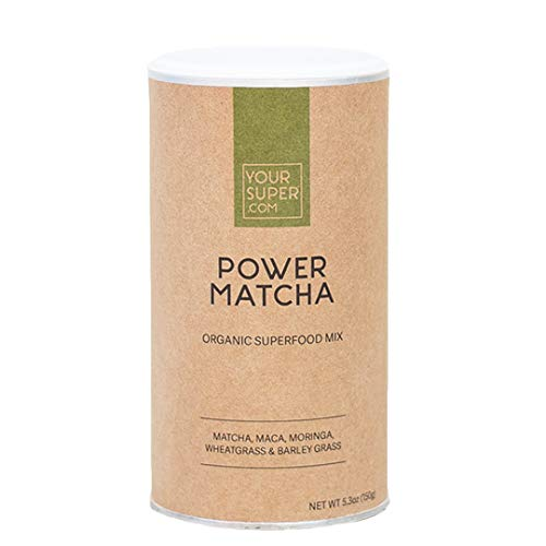Your Super Power Matcha Superfood Mix - Plant Based Focus and Energy Blend, Green Tea Powder, Natural Caffeine, Antioxidants & Essential Vitamins, Non-GMO, Organic Maca (30 Servings, 5.3 oz)