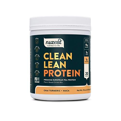 Nuzest Clean Lean Protein Functionals - Premium Vegan Protein Powder, Chai Turmeric Maca, 17.6 oz