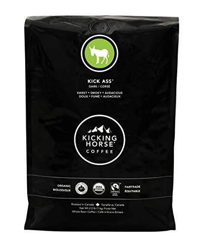 Kicking Horse Coffee, Kick Ass, Dark Roast, Whole Bean, Certified Organic, Fairtrade, Kosher Coffee, 2.2 Lb, 35.2 Ounce