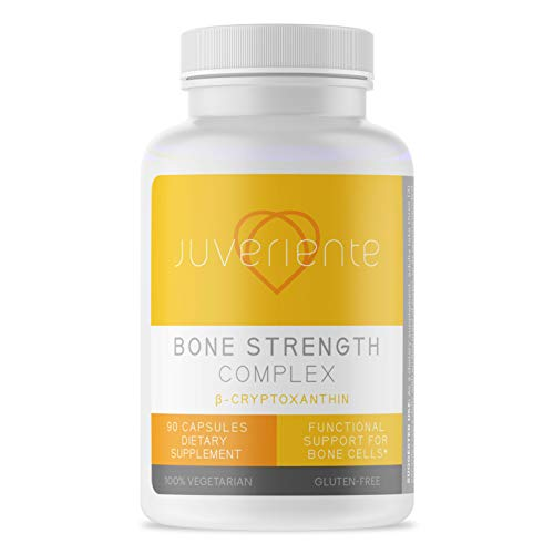 Juveriente® Bone Strength Complex/A Japanese Dietary Therapy for Cellular Level osteoporosis Relief, Packed with Vitamin C, D3, K2, Calcium, Phosphorus, Strontium and Boron / 90 Capsules for 30 Days