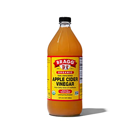 Bragg Organic Apple Cider Vinegar With the Mother– USDA Certified Organic – Raw, Unfiltered All Natural Ingredients, 32 ounce