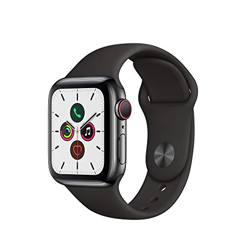 Apple Watch Series 5 (GPS+Cellular, 40mm) - Space Black Stainless Steel Case with Black Sport Band