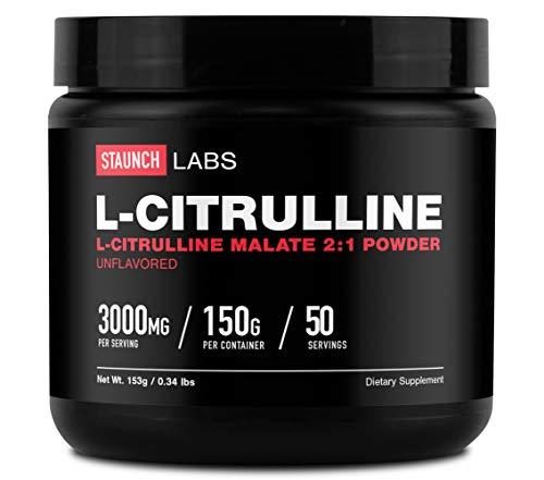 Staunch L-Citrulline Malate Powder 50 Servings (150 Grams)