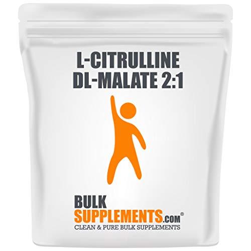 BulkSupplements.com L-Citrulline DL-Malate 2:1 - Citrulline Powder - Unflavored Pre-Workout - BCAAs Unflavored (250 Grams - 8.8 oz)