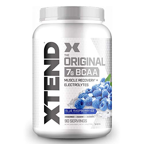 XTEND Original BCAA Powder Blue Raspberry Ice | Sugar Free Post Workout Muscle Recovery Drink with Amino Acids | 7g BCAAs for Men & Women | 90 Servings
