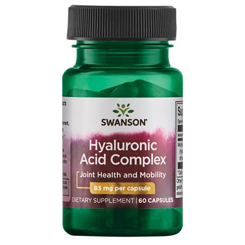 Swanson High Potency Hyal-Joint Hyaluronic Acid Complex 83 Milligrams 60 Capsules