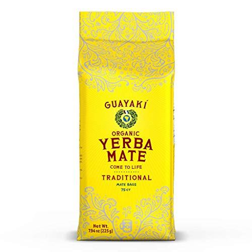 Guayaki Yerba Mate, Organic Traditional Single Serve, 7.9 Ounces (75 Tea Bags), 40mg Caffeine per Serving, Alternative to Tea, Coffee and Energy Drinks