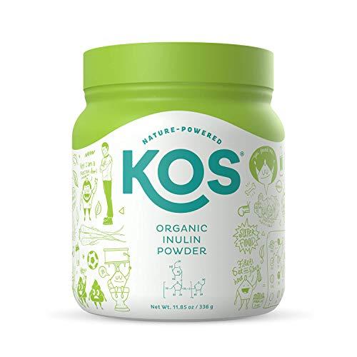 KOS Organic Inulin Powder - Unflavored Inulin Prebiotic Intestinal Support Powder - USDA Organic, Digestive Health Promoting, Gluten Free Plant Based Ingredient, 336g, 112 Servings