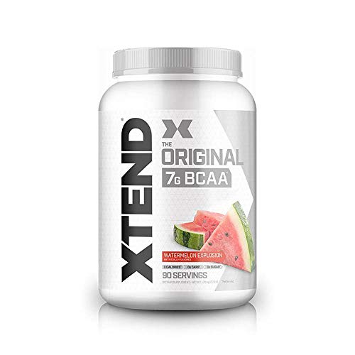 XTEND Original BCAA Powder Watermelon Explosion | Sugar Free Post Workout Muscle Recovery Drink with Amino Acids | 7g BCAAs for Men & Women | 90 Servings