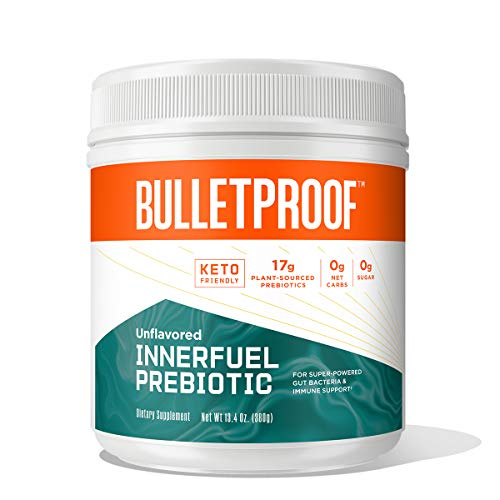 InnerFuel Prebiotic Fiber Powder, Unflavored, 13.4 Oz, Bulletproof Keto Plant-Based Dietary Fiber Supplement for Super-Powered Gut Health, Gas Relief, Digestive Health and Immune Support