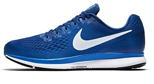 Nike Mens Air Zoom Pegasus 34 Running Shoes, Gym Blue/Sail/Blue Nebula, 12 Women/9.5 Men