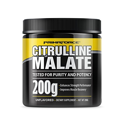 PrimaForce Citrulline Malate Powder Supplement, 200 Grams – Enhances Strength Performance / Improves Muscle Recovery