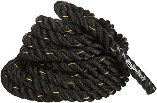 Amazon Basics 1.5 Inch Heavy Exercise Training Workout Battle Rope - 344 x 1.5 Inch, Black