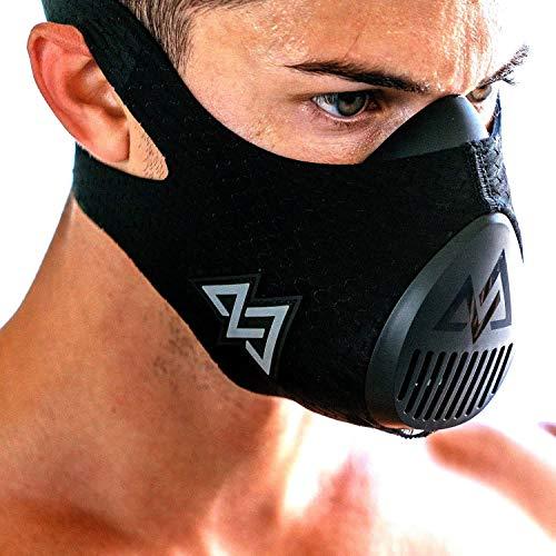 TRAININGMASK Training Mask 3.0 | Gym Workout Mask – for Cardio, Running, Endurance and Breathing Performance [Official Training Mask Used by The Pros] (Black, Medium)