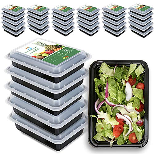 TT Meal Prep Containers Single Compartment 28 OZ Heavy Duty Container To Go Container with Lids 51 Pack Reusable Bento Box Leftover Container BPA Free Microwave and Freezer Safe