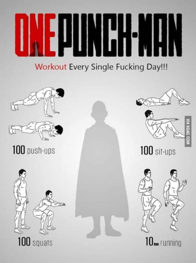 The One Punch Man Exercise Routine